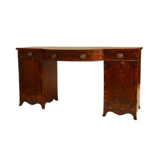 Georgian Mahogany Satinwood Sideboard For Sale