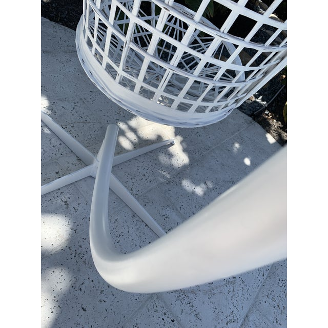 Vintage Russell Woodard Hanging Birdcage Swing For Sale - Image 9 of 13