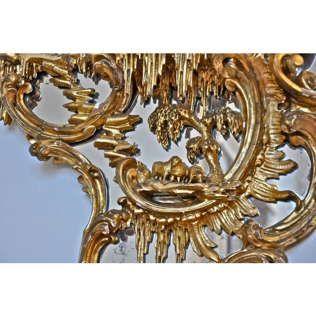 Pair of 18th century George III Gilt Chippendale mirror brackets Attributed to the Master Carver, Thomas Johnson...
