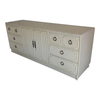 Palm Beach Faux Bamboo Credenza / Dresser For Sale