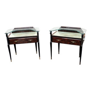 Ico Parisi Style Mid-Century Modern Side Tables - a Pair For Sale