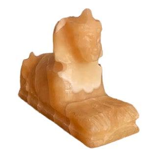 Alabaster Sphinx Sculpture Figurine For Sale