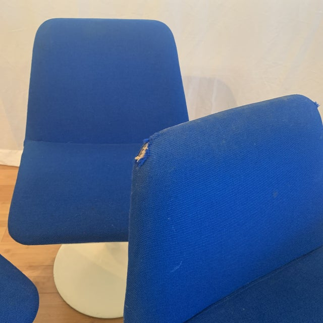 Blue 1960s Vintage Borje Johanson Swivel Chairs- Set of 4 For Sale - Image 8 of 10