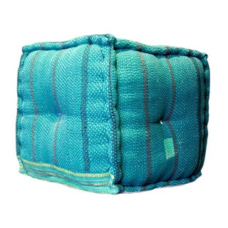 Jade Bengal Kantha Cube For Sale