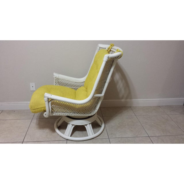 Vintage Swivel Egg Rattan Chair For Sale - Image 4 of 9