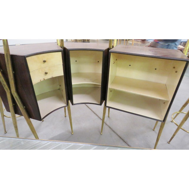 Gio Ponti Style Italian Modern Bar - Set of 4 For Sale - Image 5 of 9