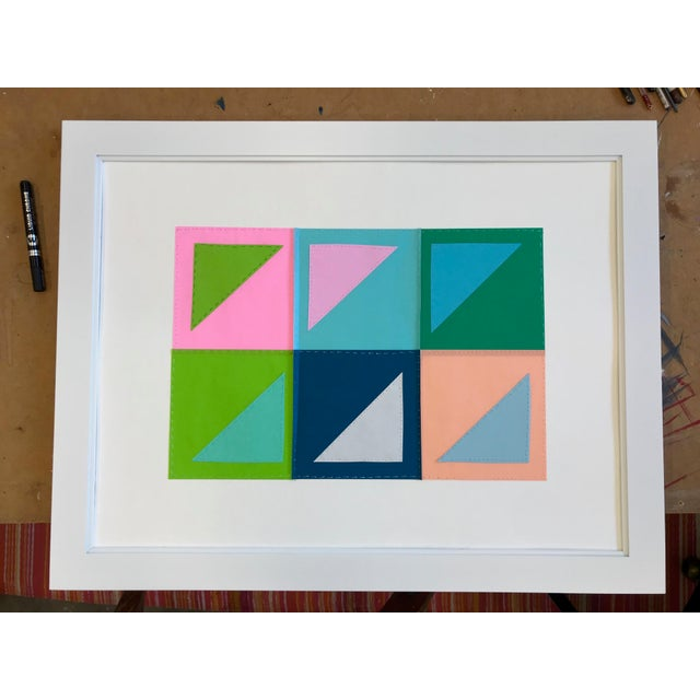 Natasha Mistry Contemporary Geometric Patchwork Collage For Sale - Image 10 of 13