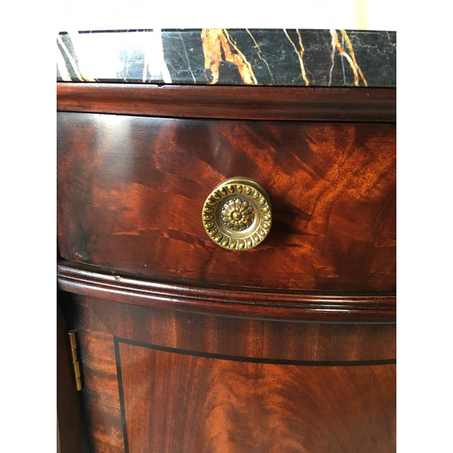 Empire Henredon Natchez Demilune Console With Marble Top For Sale - Image 3 of 11