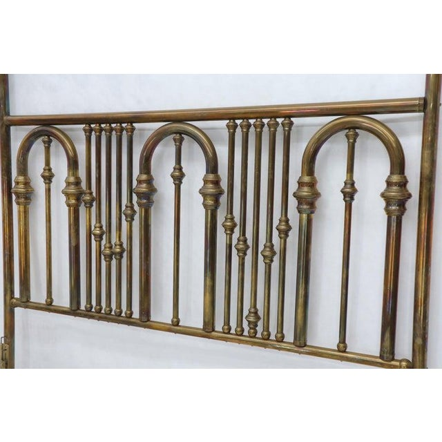 Metal King Size Large Brass Headboard For Sale - Image 7 of 12
