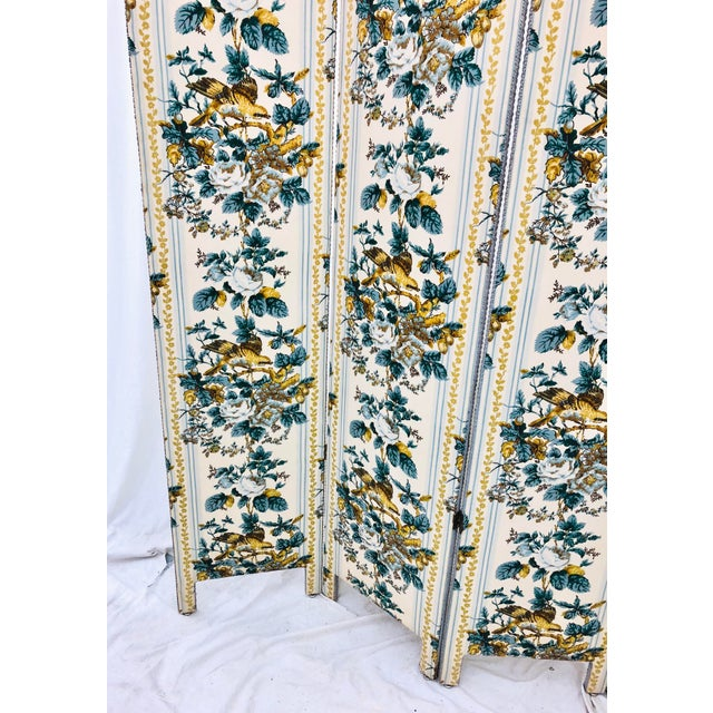 Vintage Chintz Screen For Sale - Image 9 of 9