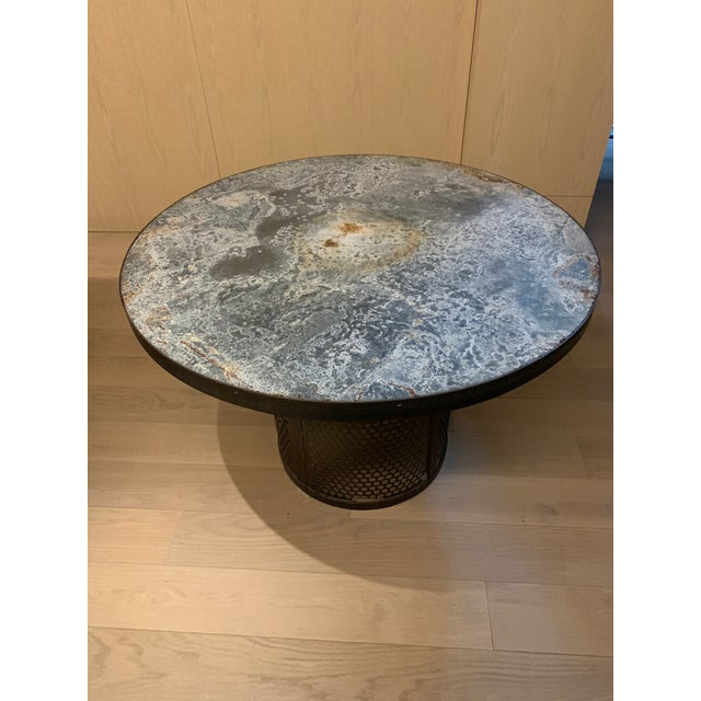 One Kings Lane Zinc Top And Metal Round Table Chairish