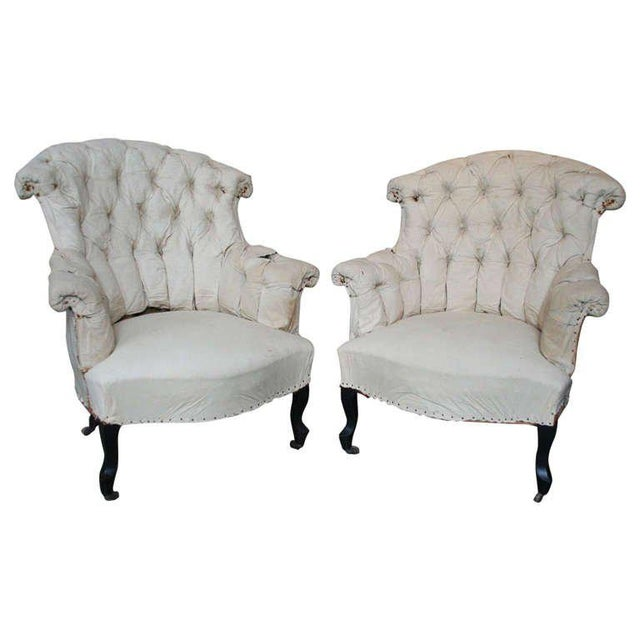 Pair of French Armchairs in Muslin - Image 11 of 11