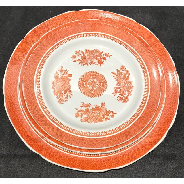 1950s Coral Copeland Spode Fitzhugh Plates 3 Piece Service for 8 - Set of 26 For Sale - Image 9 of 12