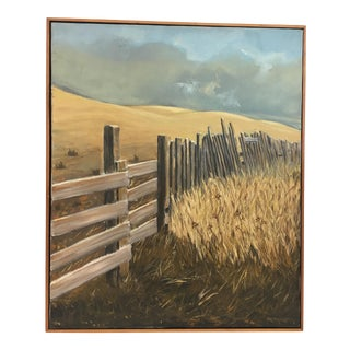 Vintage Landscape Oil on Canvas Painting