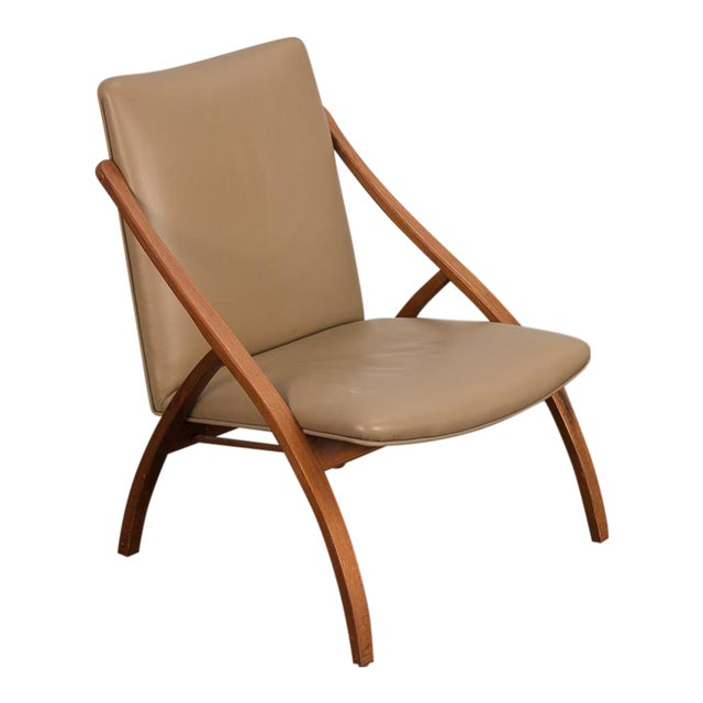 Swedish Armless Sculpted Lounge Chair For Sale