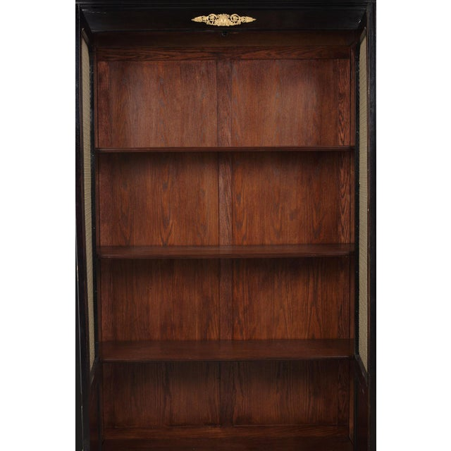 Empire Late 19th Century French Empire Style Mahogany Bookcase For Sale - Image 3 of 11