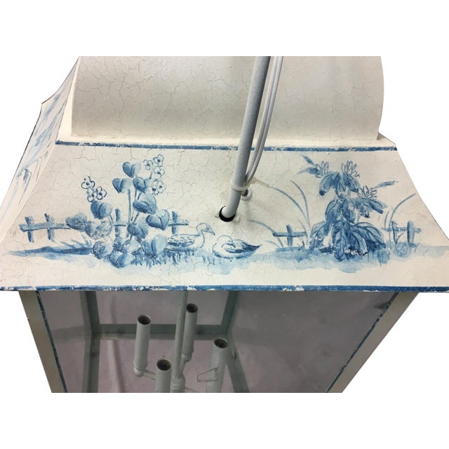 Vintage French Style Hand-Painted Lantern For Sale - Image 4 of 8
