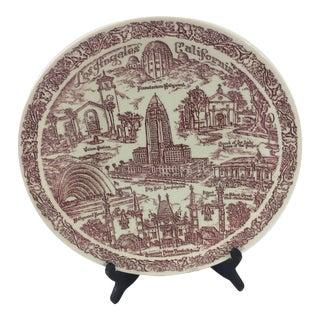 Vintage Los Angeles Souvenir Plate For Sale
