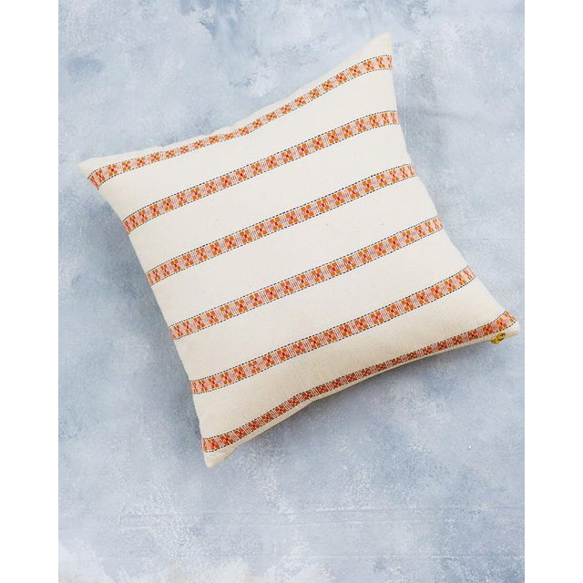 White Asima Organic Cotton Handwoven Pillow Cover For Sale - Image 8 of 8