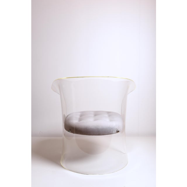 Lucite 1960s Mid-Century Modern Vladimir Kagan Lucite Barrel Chair For Sale - Image 7 of 13