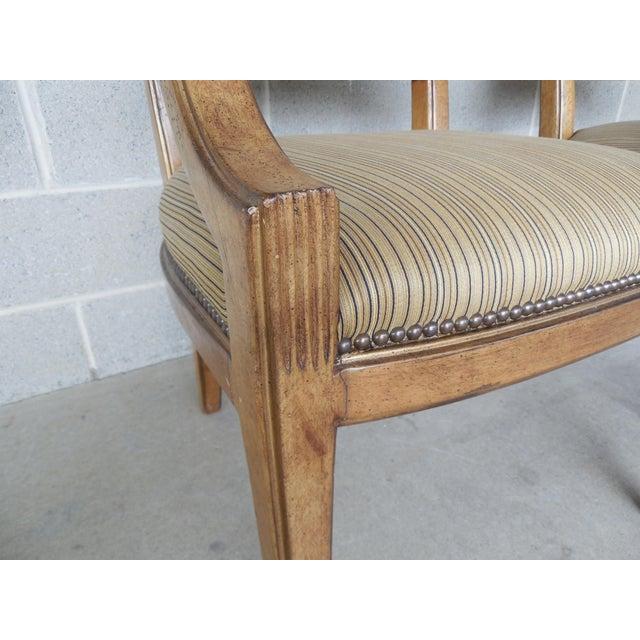 Ferguson Copeland Neoclassical Regency Style Chairs - Set of 8 - Image 5 of 11