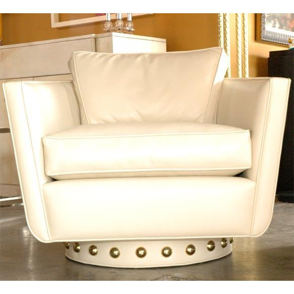 Customizable Paul Marra Swivel Lounge Chair For Sale - Image 10 of 10