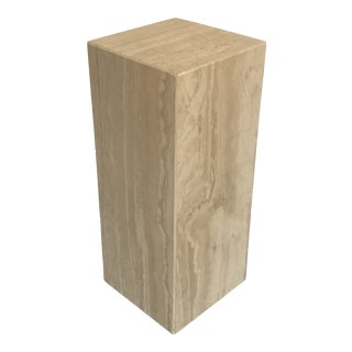 1970s Travertine Pedestal or Stand For Sale
