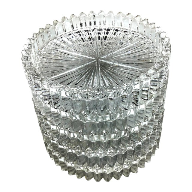 Mid Century Cut Glass Drink Coasters - Set of 5 For Sale