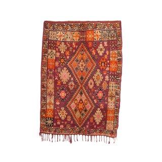 """Boujad Vintage Moroccan Rug, 6'9"""" X 9'6 Feet"""