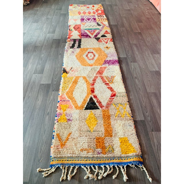 Boho Chic 1950s Moroccan Vintage Runner-2′6″ × 11′ For Sale - Image 3 of 13
