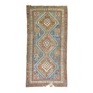 Shabby Chic Antique Caucasian Rug, 5'4'' x 9'11'' For Sale