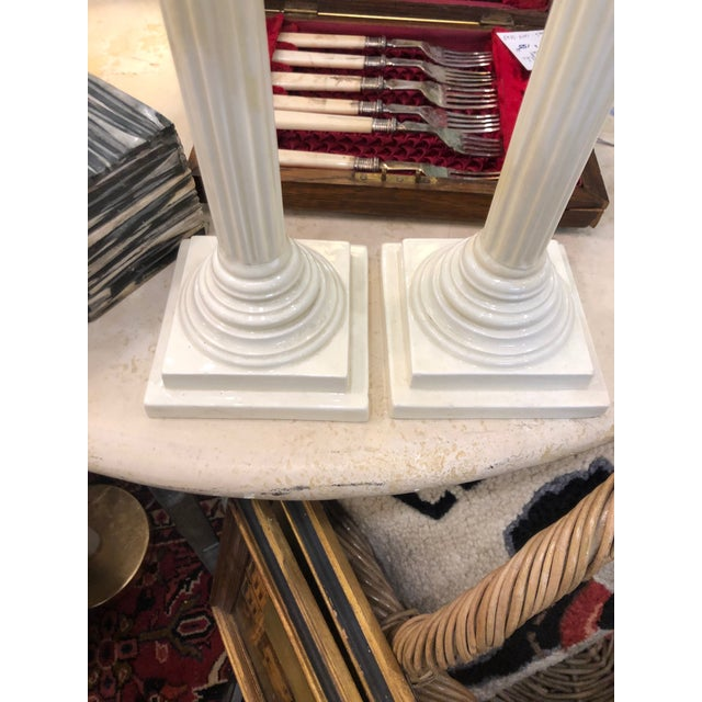 Creamware Candle Holders - a Pair For Sale In New York - Image 6 of 8