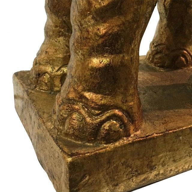 Italian Gilded Ceramic Elephant Lamps - Pair - Image 6 of 8