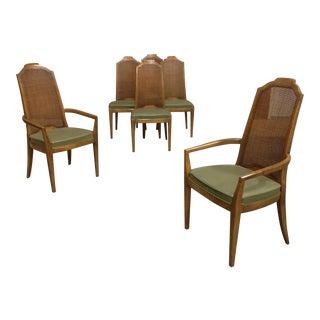 Vintage Drexel Cane Back Dining Chairs - Set of 6