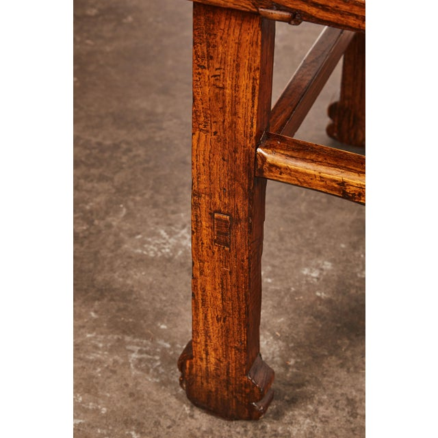 Elm Early 19th Century Chinese Elm Table For Sale - Image 7 of 9