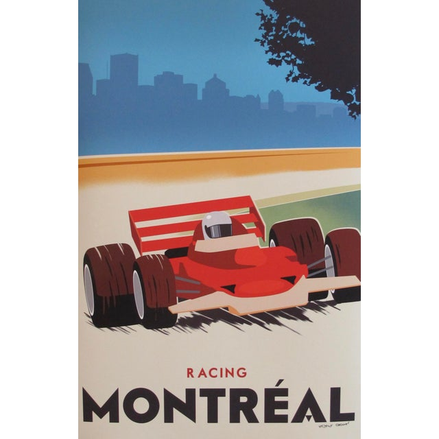 Contemporary, Hand-Signed Montreal Racing Poster For Sale - Image 4 of 5