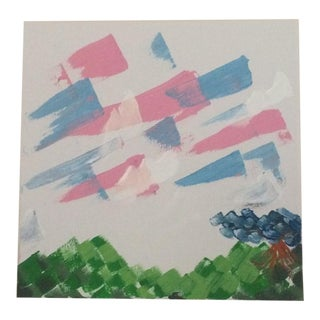 Acrylic on Canvas Checkered Landscapes