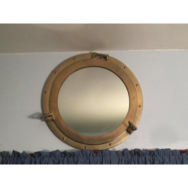 Nautical Brass Porthole Mirror - Image 6 of 8