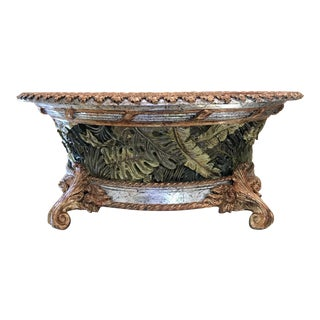 Modern Hollywood Regency Style Carved Decorative Bowl For Sale