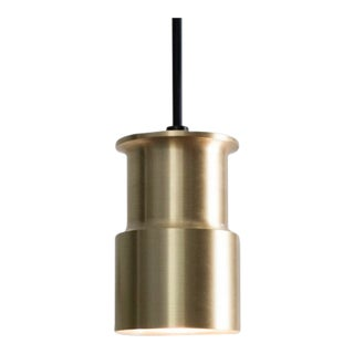 Minimalist Brass Bowden Pendant by Colin Tury For Sale