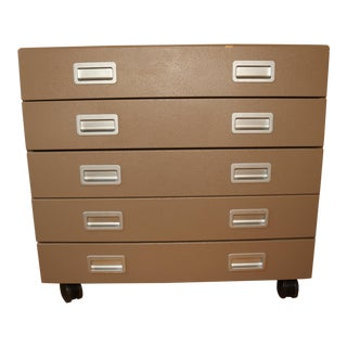 Design Within Reach 5 Drawer Rolling Lateral File Cabinet Storage Drawers
