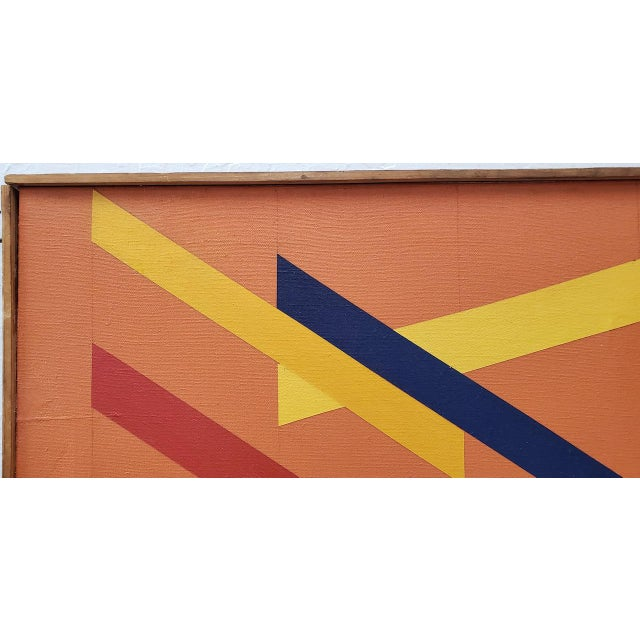 Tom Patrick (American, 20th C.) Vintage Geometric Abstract Painting on Canvas C.1970s For Sale - Image 9 of 11