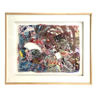 """Sam Gilliam Mixed-Media Collage Painting """"Manet"""" 1998 For Sale"""