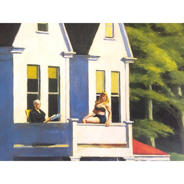 "1990s Edward Hopper Vintage 1999 Lithograph Calendar Print "" Second Story Sunlight "" 1960 For Sale - Image 5 of 9"