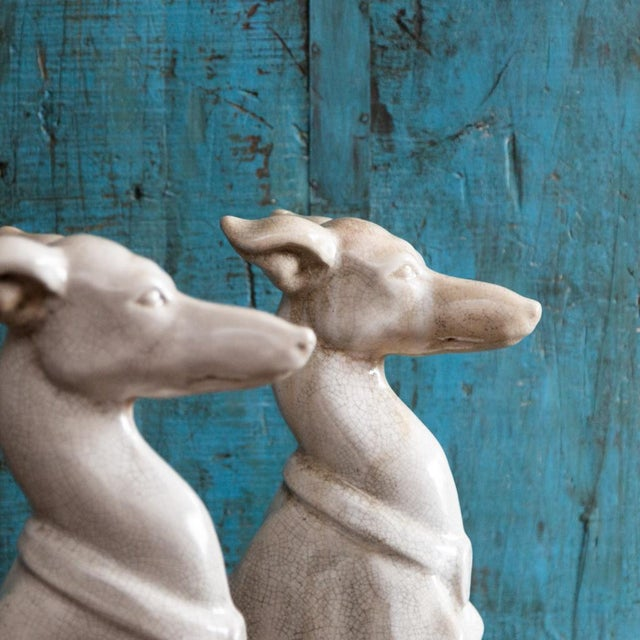 Vintage Greyhound Statues-a Pair For Sale In New York - Image 6 of 7