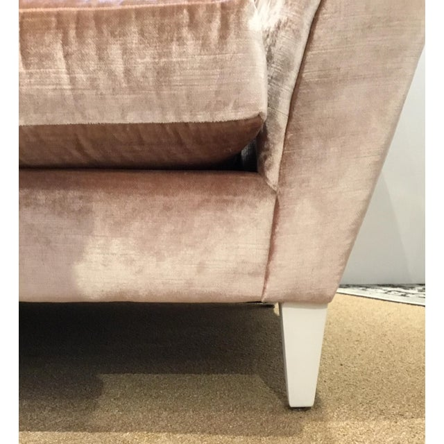 Modern Caracole Modern Blush Velvet Two Piece Sofa For Sale - Image 3 of 6