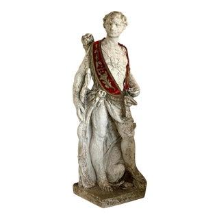 Vintage Italian Stone Roman Hunter Statue For Sale