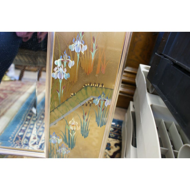 Large La Barge Eglomise Gold Beveled Mirror For Sale - Image 10 of 13