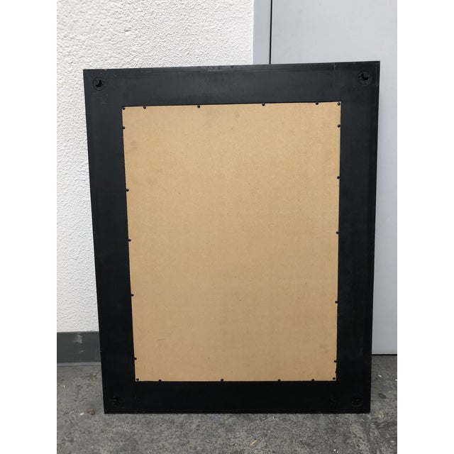 Industrial Rustic Style Wood + Metal Wall Mirror For Sale - Image 3 of 7
