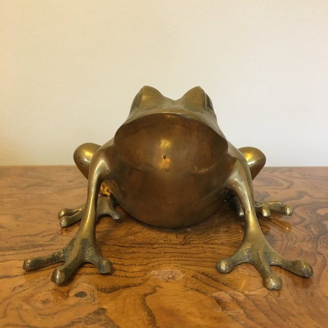 Mid-Century Brass Frog For Sale - Image 4 of 6
